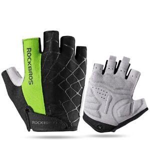 ROCKBROS Half Finger Bike Gloves Riding Cycling Skiing Hiking Shockproof  Gloves