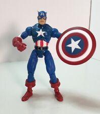 captain america marvel legends series 1 toy biz figure 2002 W/ Shield World Ship