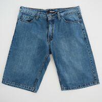 BILLABONG Mens Denim Shorts W40 Regular Fit High Rise Medium Blue Wash EUC