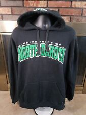 Vintage UND North Dakota Fighting Sioux NCAA Hooded Sweatshirt NDSU Mens Large