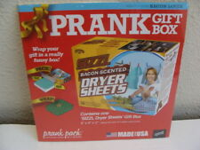 PRANK GIFT BOX Wrap your gift in funny box! Bacon Scented Dryer Sheets Small Box