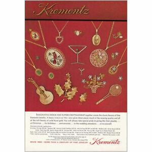 1974 Krementz: Red Background Vintage Print Ad