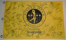 Signed NISSAN OPEN Flag Collected at event attended COA *OPEN TO OFFERS*