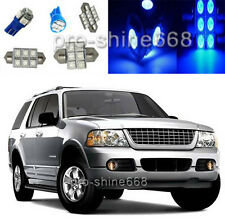 Blue SMD LED Interior 12PCS Lights Plate Package for Ford Explorer 2002 2005