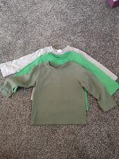 3 X Brand New Long Sleeved T Shirts. 9-12m