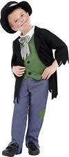 Smiffy's Children's Dodgy Victorian Boy Costume, Top, Trousers & Hat, Size: M,
