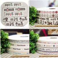 4PCS/Set Retro DIY Cotton Handmade Tag Ribbon Clothing Woven Lable Accessories