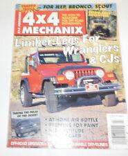 4x4 Mechanix Magazine Limber Legs For Wranglers & CJs July 1996 080714R