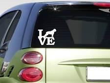 "American Bulldog love 6"" STICKER *F254* DECAL dog breed leash olde bulldogge"