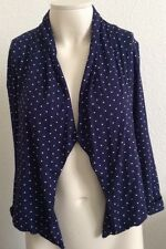M&S WOMAN. Short Lined Jacket. Size 8. Colour Navy. V.g.c.
