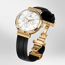 CARRNEGIE WATCHES Luxury Men's Wrist Watch - Sports Rose Gold White