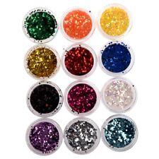 12 Colori Acrilico Uv Gel Manicure Glitter Sequins Sei Angolo H7B6