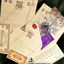 Harry Potter Hogwarts Acceptance Letter, Deathly Hallows Pendant Marauders
