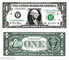Etats UNIS AMERIQUE USA Billet 1 $ Dollar  NEUF UNC