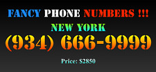 New listing Fancy Phone Numbers ! New York (934) 666-9999