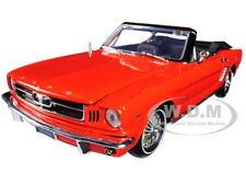 "1964 1/2 FORD MUSTANG CONVERTIBLE ORANGE ""TIMELESS CLASSICS"" 1:18 MOTORMAX 73145"