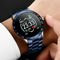 Steel Band Smart Watch Men Heart Rate Blood Pressure Monitor Sport