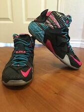 EUC Nike Lebron 12 Chromosome Pink Blue Sole
