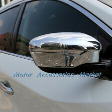 Chrome Rearview Mirror Cover Moulding For Nissan Murano Rogue T32 Qashqai 15-17