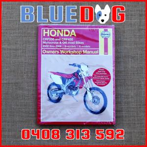 HONDA CRF250R CRF250X 04-06 CRF450R CRF450X 02-06 Haynes Workshop Manual 972630