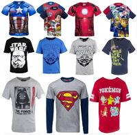New Boys Star Wars Cargo Bay Superheroes Long/Short Sleeve T-Shirts 18 mths - 14