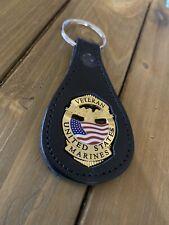 Veteran Marines Keychain Mini Badge