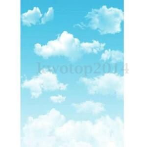 3x5FT Vinyl Blue Sky Cloud Photography Background Photo Studio Props Backdrop