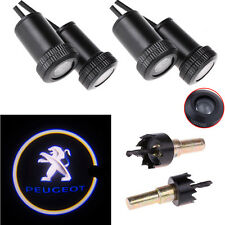 4X Laser Logo LED Car Door Step Ghost Shadow Welcome Projector Light for Peugeot