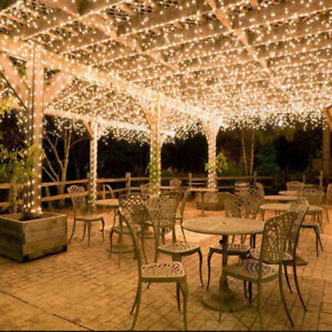 100M 500LED Warm White Waterproof Fairy String Lights Wedding Party Garden