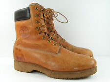 vintage timberland boots mens 12 W brown camel hiking work mountain bike fashion