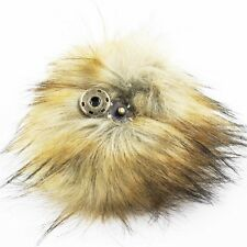 """11cm 5"""" Real Raccoon Fur Ball Pompom W Snap Button f Hat Shoes DIY Accessories"""