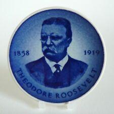 """ROYAL COPENHAGEN ALUMINIA - THEODORE ROOSEVELT - PLAQUETTE 3"""" PIN DISH #178 8CM"""