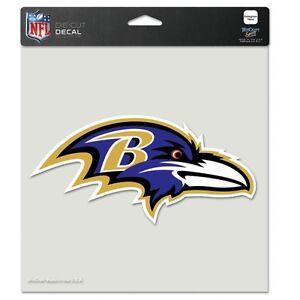 """Baltimore Ravens NFL 8""""x8"""" Decal Sticker Primary Team Logo Die Cut Car Auto"""