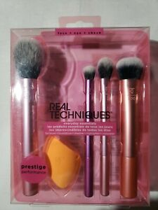 Real Techniques 1786 Everyday Essentials Brush Set Prestige Performance Free S&H