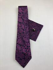 Paul Malone Tie Set Purple Palm Beach