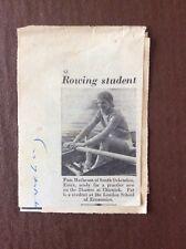 K1l Ephemera 1950s Picture Rower Rowing Pam Mathewson South Ockendon