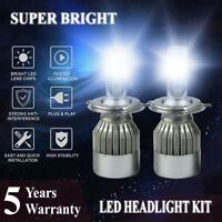 Pair H4 HB2 1800W 270000LM LED Headlight Bulbs Conversion Kit Lights 6000K White