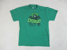 Majestic Eugene Emeralds Shirt Adult Medium Green Minor League Baseball Mens *