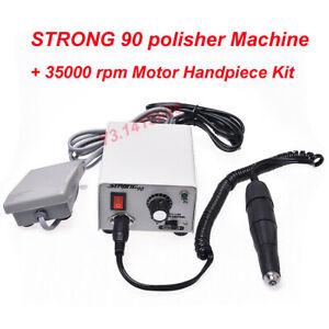 Dental Lab STRONG Electric Micromotor Polishing 90+35000 RPM Motor Handpiece Kit