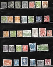 DENMARK PAGE OF 33 SOUND USED STAMPS MOSTLY EARLIER.