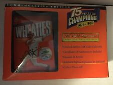 MARK MCGWIRE 1999 Wheaties Box 75th Anniversary 1924-1999 Packaged 24K Signature