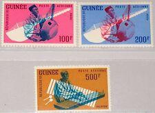 Guinea 1962 125-27 c32-34 Musical Instruments STRUMENTO MUSICALE MUSIC musicisti MNH