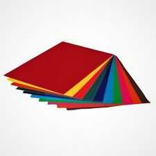 Fensterfolie 10 Stück selbsthaftend farbig transparent Blatt 24,5 x 17 cm