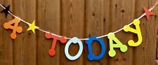 BOYS 4th BIRTHDAY PARTY BANNER MULTI COLOUR BUNTING