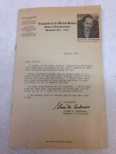 Glenn M. Anderson U.S. House of Representative Pamphlet Bulletin, January 1973