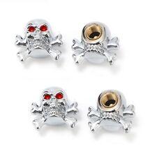4 pièces skull tete de mort bouchons de valve MOTO BIKE HARLEY BOBBER valve Caps s