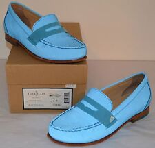 New $198 Cole Haan Nike Air Monroe Penny Loafer Reflective Blue Topaz sz 7 lot