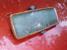 Wood grain style rear view mirror,real glass,black back,nice,day/nite,350