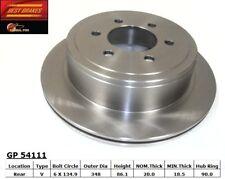 Disc Brake Rotor-Standard Brake Rotor Rear Best Brake GP54111