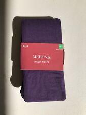 NEW Merona Womens Opaque Tights Phantom Grape Size Small/Medium